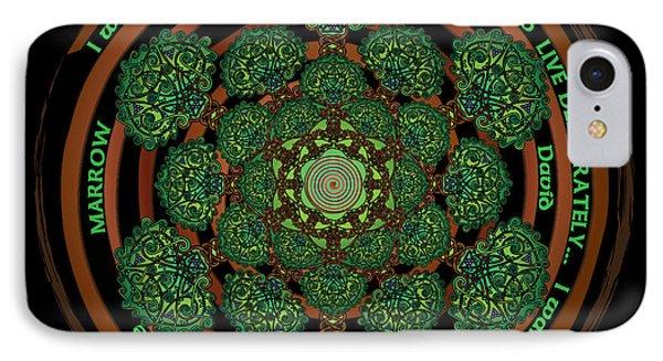 Celtic Tree Of Life Mandala IPhone Case by Celtic Artist Angela Dawn MacKay
