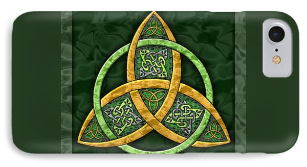 Celtic Trinity Knot IPhone Case by Kristen Fox
