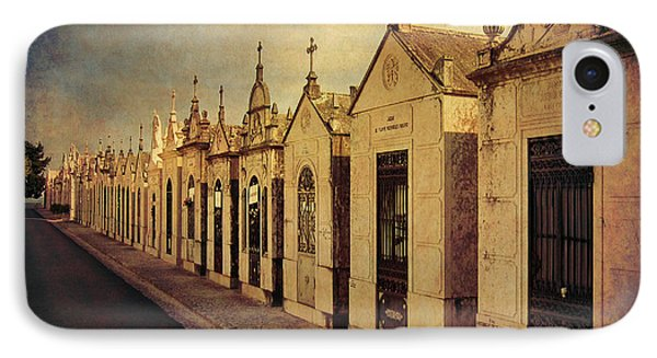 IPhone Case featuring the photograph Cemetary In Santarem Portugal by Menega Sabidussi