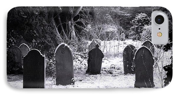 Cemetery And Snow Phone Case by Jane Rix
