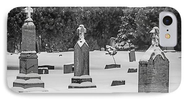 Cemetery In Snow IPhone Case