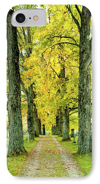 IPhone Case featuring the photograph Cemetery Lane by Greg Fortier