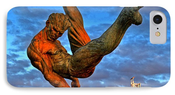 Centennial Park Statue 001 IPhone Case by George Bostian
