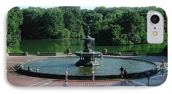 Central Fountain IPhone Case by Kelvin Booker