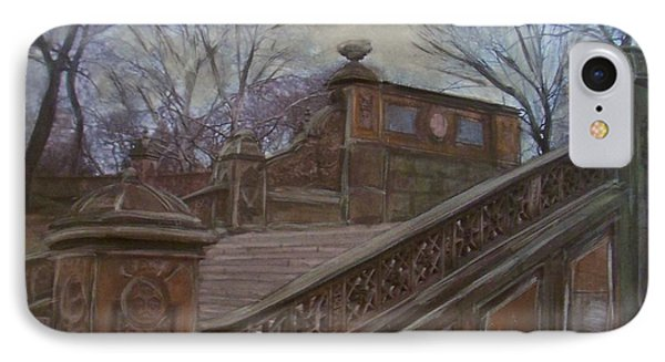 Central Park Bethesda Staircase Phone Case by Anita Burgermeister