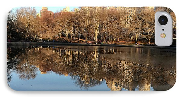 IPhone Case featuring the photograph Central Park City Reflections by Madeline Ellis