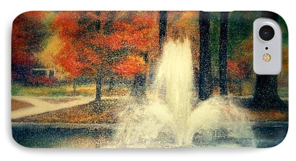 Central Park In Autumn Phone Case by Gail Kirtz