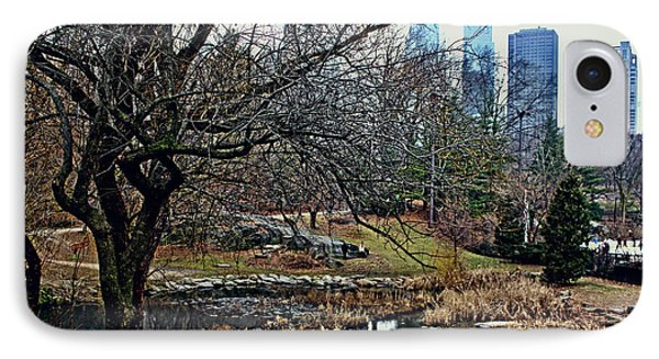 Central Park In January IPhone Case by Sandy Moulder