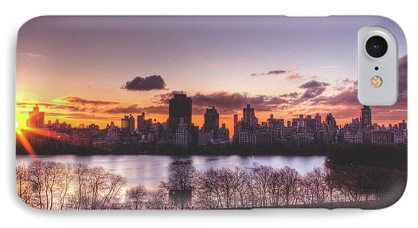 Central Park Rises Phone Case by Ariane Moshayedi