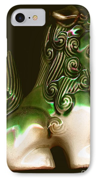 Ceramic Chinese Temple Dog IPhone Case by Merton Allen