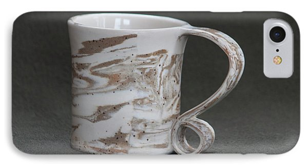 Ceramic Marbled Clay Cup IPhone Case by Suzanne Gaff