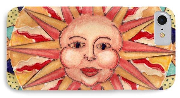 Ceramic Sun IPhone Case by Anna Skaradzinska