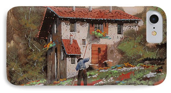 Cercando Tra Le Foglie IPhone Case by Guido Borelli