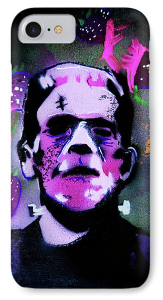 IPhone Case featuring the painting Cereal Killers - Frankenberry by eVol i