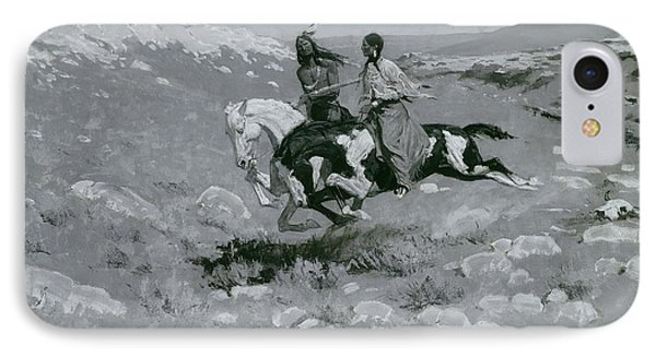 Ceremony Of The Fastest Horse IPhone Case by Frederic Remington