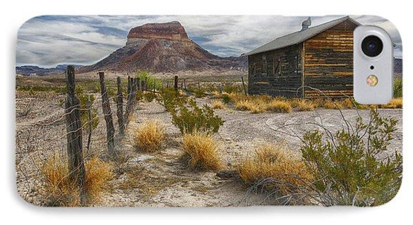 Cerro Castellan - Big Bend - Color IPhone Case by Kathy Adams Clark