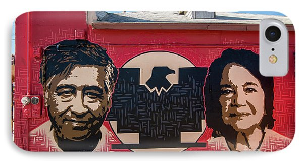 IPhone Case featuring the photograph Cesar Chavez And Dolores Huerta Mural - Utah by Gary Whitton
