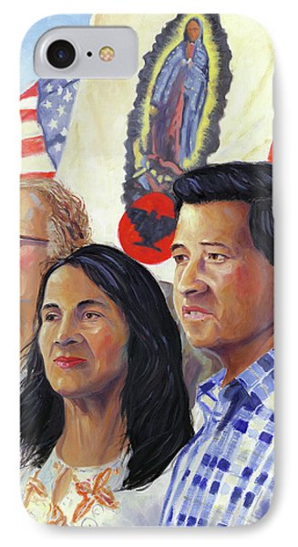 Cesar Chavez And La Causa IPhone Case by Steve Simon