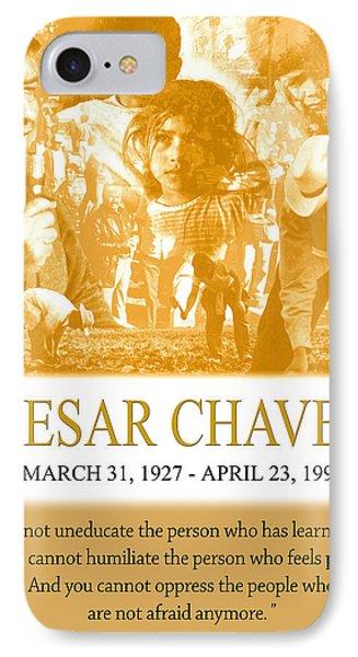 Cesar Chavez Poster IPhone Case by John Keaton