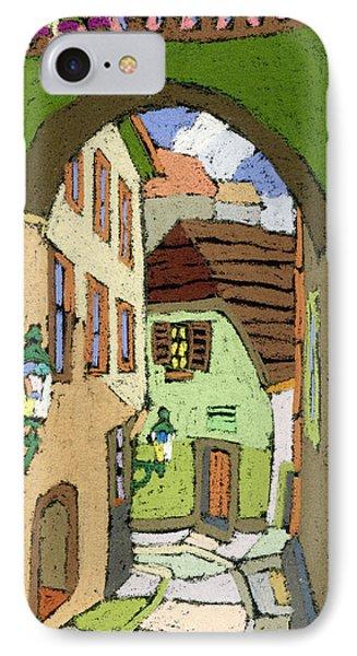Cesky Krumlov Masna Street IPhone Case by Yuriy  Shevchuk
