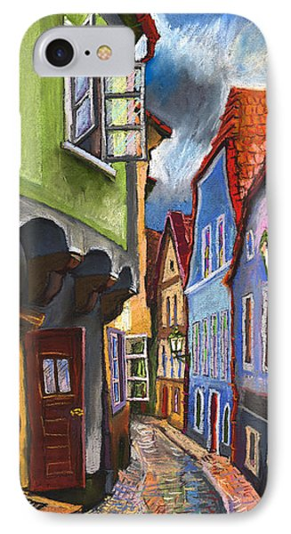 Cesky Krumlov Old Street 1 IPhone Case by Yuriy  Shevchuk