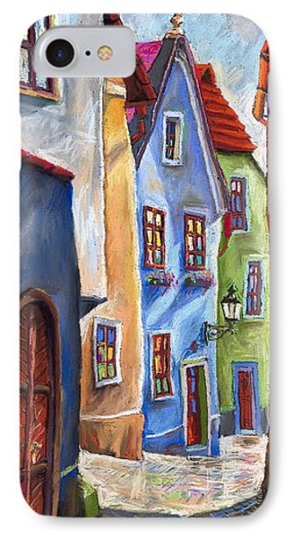 Cesky Krumlov Old Street IPhone Case by Yuriy  Shevchuk
