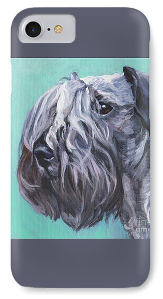 IPhone Case featuring the painting Cesky Terrier by Lee Ann Shepard