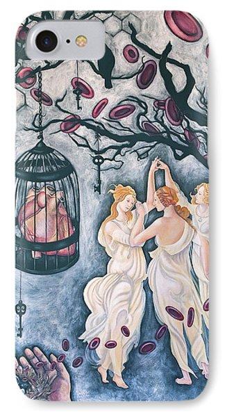 Cette Vie Est Sacree Phone Case by Sheri Howe