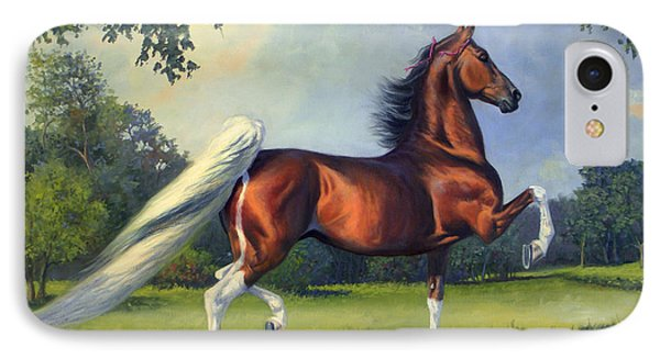 Ch. Racing Stripe IPhone Case by Jeanne Newton Schoborg