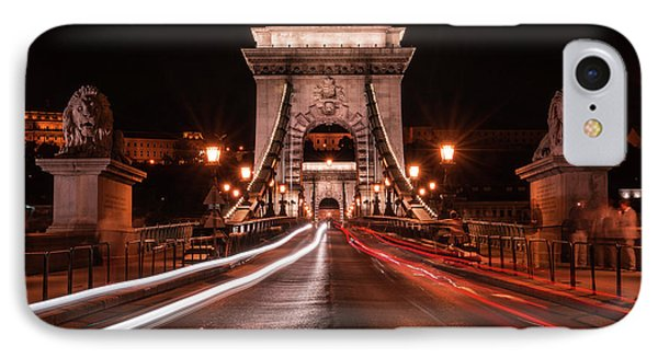 Chain Bridge At Midnight IPhone Case by Jaroslaw Blaminsky
