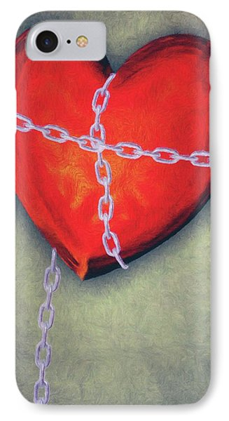 Chained Heart Phone Case by Jeffrey Kolker