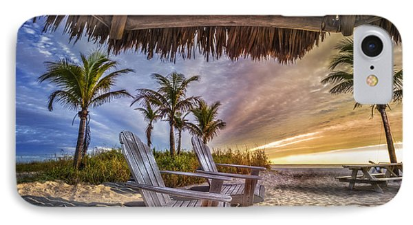 Chairs On The Beach IPhone Case by Debra and Dave Vanderlaan