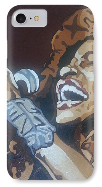 IPhone Case featuring the painting Chaka Khan by Rachel Natalie Rawlins