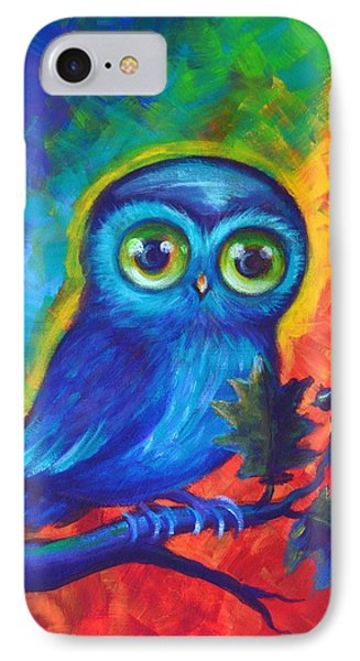 Chakra Abstract With Owl IPhone Case by Agata Lindquist