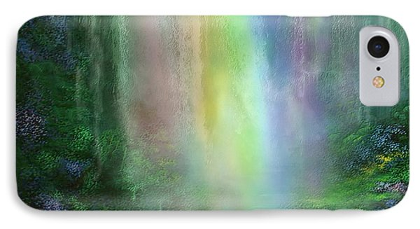 Chakra Waterfalls IPhone Case by Carol Cavalaris