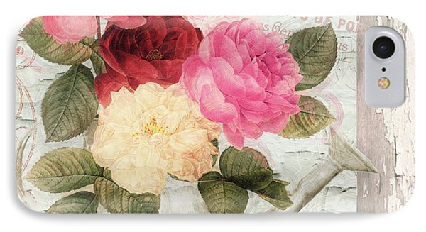 Chalet D'ete Roses IPhone Case by Mindy Sommers
