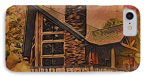 Chalet In Autumn IPhone Case