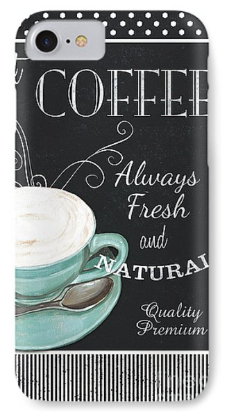 Chalkboard Retro Coffee Shop 1 IPhone Case by Debbie DeWitt