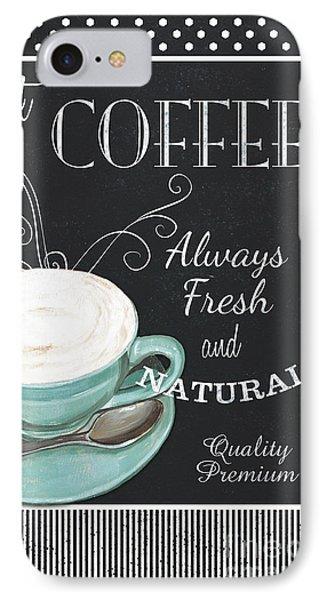 Chalkboard Retro Coffee Shop 1 IPhone Case