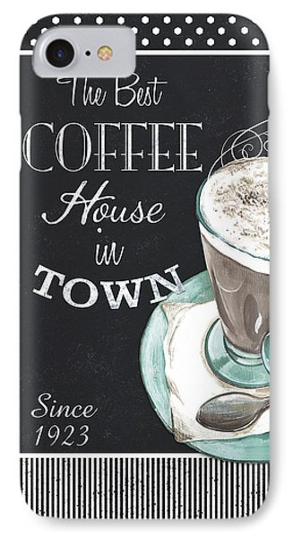 Chalkboard Retro Coffee Shop 2 IPhone Case by Debbie DeWitt
