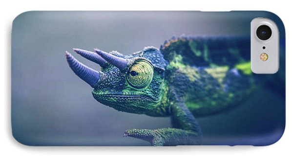 IPhone Case featuring the photograph Chamaeleo Jacksonii by Sharon Mau