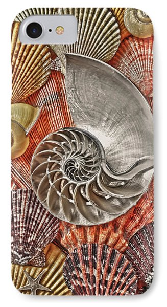 Chambered Nautilus Shell Abstract IPhone Case