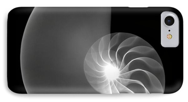 Chambered Nautilus Shell Phone Case by Ted Kinsman