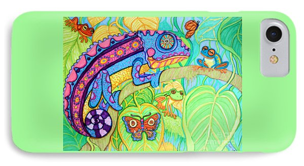 Chamelion And Rainforest Frogs IPhone Case