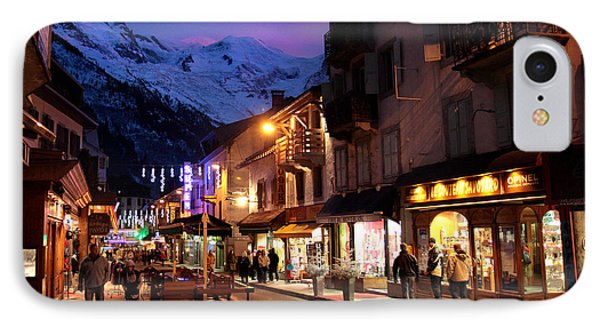 Chamonix Town In The Shadow Of Mont Blanc In The French Alps Phone Case by Pierre Leclerc Photography