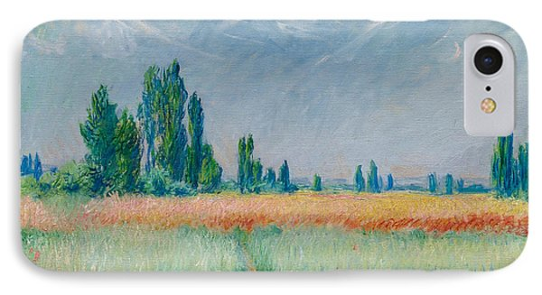 IPhone Case featuring the painting Champ De Ble by Claude Monet