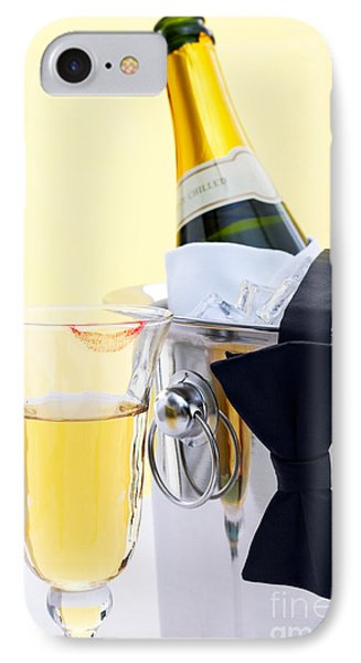 Champagne Black Tie And Lipstick Phone Case by Richard Thomas