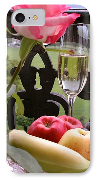 Champagne On The Balcony IPhone Case by Carl Purcell