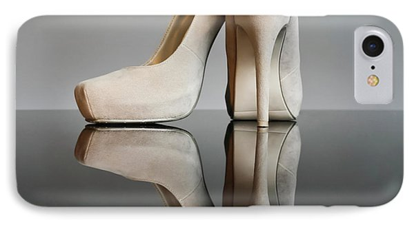 IPhone Case featuring the photograph Champagne Stiletto Shoes by Terri Waters