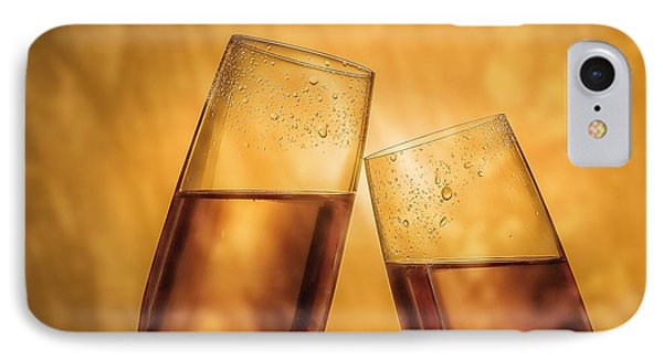Champagne Toast IPhone Case by Tom Mc Nemar